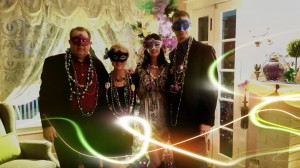 First Mardi Gras community celebration.