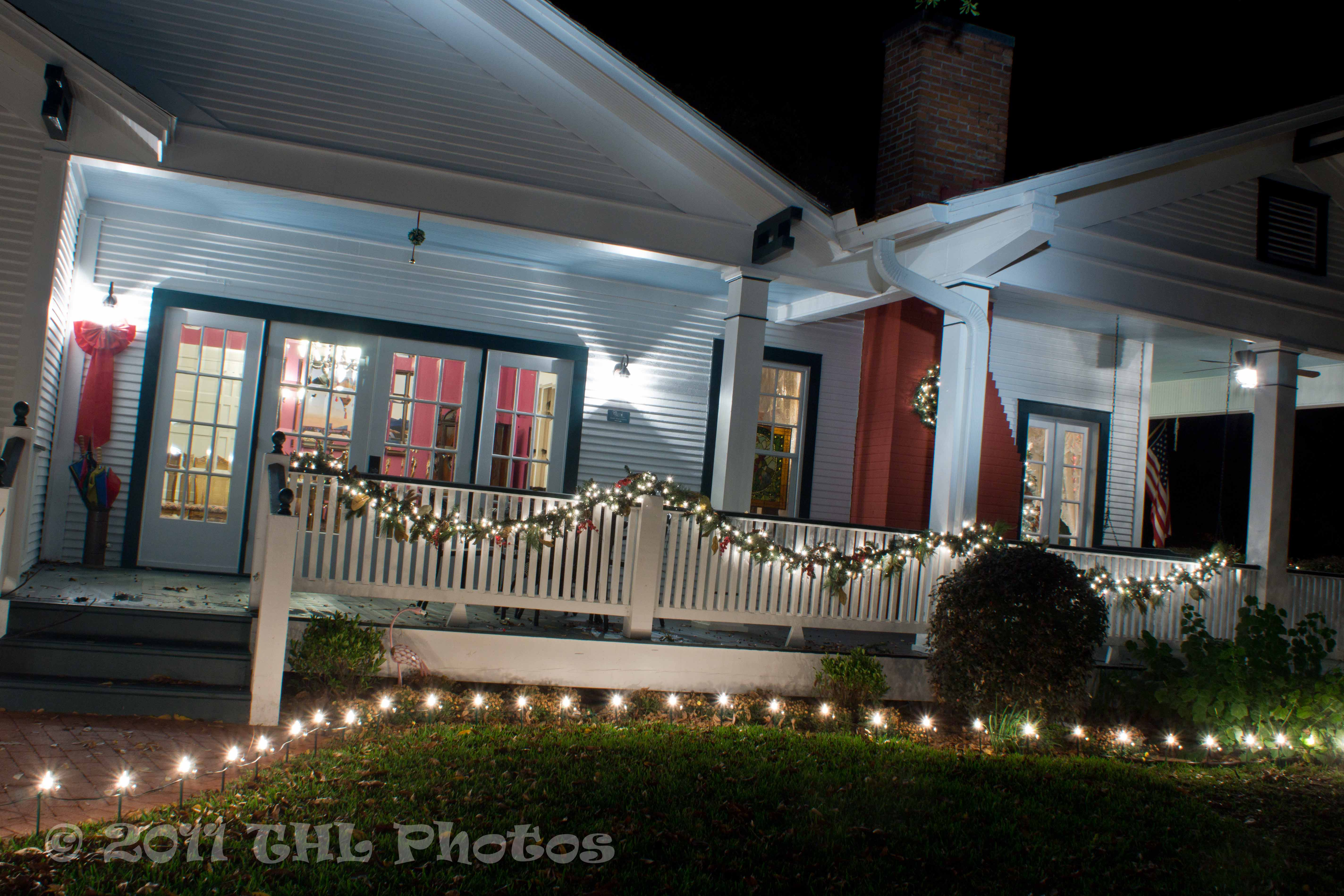 Christmas Lights At The Carriage House
